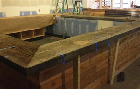 Timber Bar Tops by Reclaimed Doug Fir Crossroads Recycled Lumber Llc