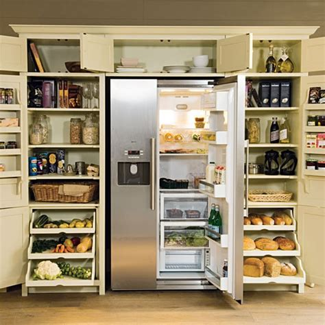 kitchen cabinet storage larder with fridge freezer from neptune kitchen storage