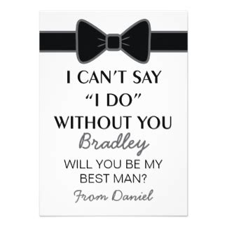 Will You Be My Best Man Black Bow Tie 11 Cm X 16 Cm Invitation Card Will You Be My Best Template