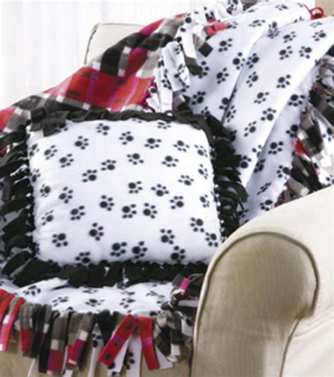 Fleece Blankets No Sew by No Sew Fleece Blanket Pillow Joann Jo