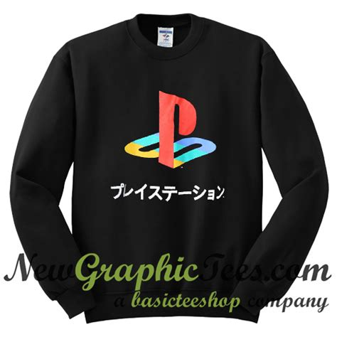 Hoodie Playstation Japan playstation japanese katakana sweatshirt