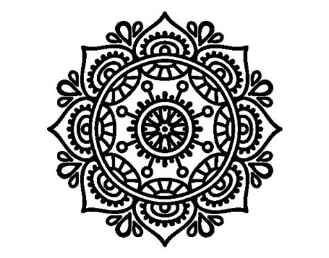 relaxed color mandala to relax coloring page coloringcrew