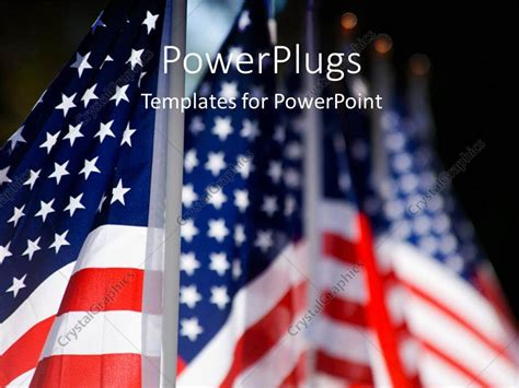 Powerpoint Template Hoisted American Flags Lines Up For Military Veterans Remembrance 1648 Veteran Powerpoint Template