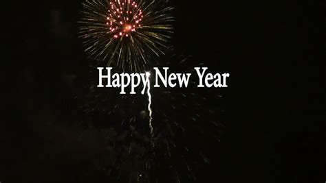 new year fireworks animation happy new year text animation with fireworks display in