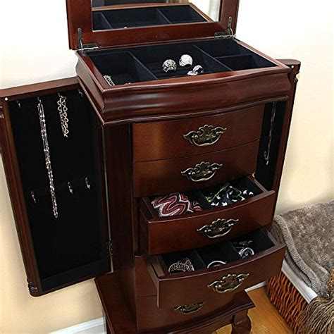 petrus provincial 6 drawer jewelry cabinet armoire