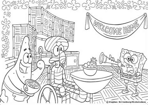 welcome home squidward coloring pages hellokids com