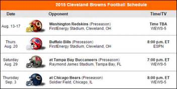 nfl preseason tv football schedule 2015 cleveland browns projected 2015 record autos post