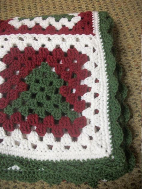 christmas tree granny square pattern christmas crochet afghans and blankets 10 handpicked