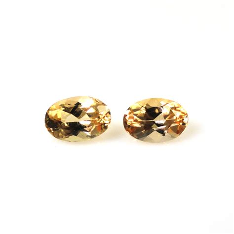 Tpz021 Pair White Brazil Topaz Oval 8 X 6 Mm 318 Ct imperial topaz oval 6x4mm matched pair approximately 1 16