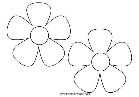 sagoma fiore sagome fiori 2 disegni da stare drawings to be