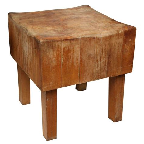 a butcher block table butcher block table at 1stdibs