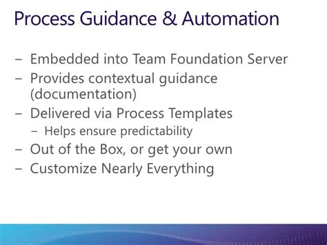 team foundation server process templates tfs 2010 team development on