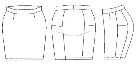 skirt template pattern pieces for skirt in non stretch fabric fashion
