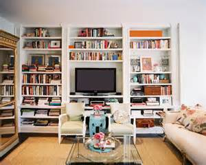 Living Room Bookshelves Built In Bookshelves Eclectic Living Room Lonny Magazine