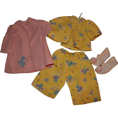 pajamas and slippers vintage doll pajamas robe and slippers from