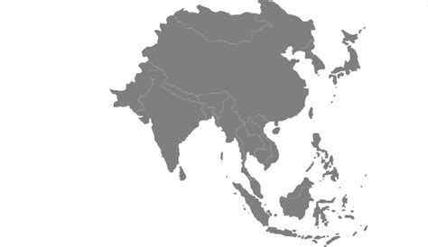 Free Asia Outline Map Vector by Asian Continent Grey Clip At Clker Vector Clip Royalty Free Domain