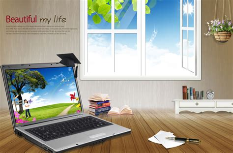 leisure desk layout psd material free
