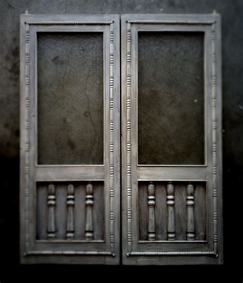 Handcrafted Doors - handcrafted distressed swinging saloon doors
