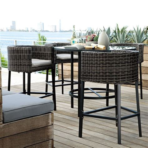 Outdoor Bistro Table Set Bar Height 17 Best Images About Bar Height Patio Chairs On Dining Sets Chairs And Bistro Chairs