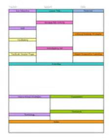 one page lesson plan template 1000 ideas about lesson plan templates on