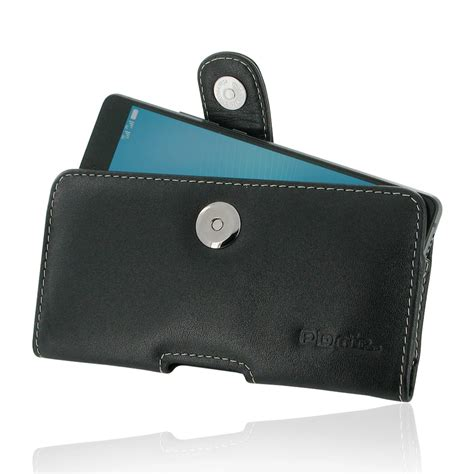 Huawei P9 Lite Genuine Leather Casing Kulit Origin Diskon huawei p9 lite leather holster belt clip pdair sleeve pouch