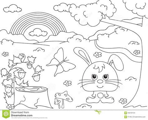 coloring pictures of flowers and trees cartoon flowers cartoons illustrations vector stock