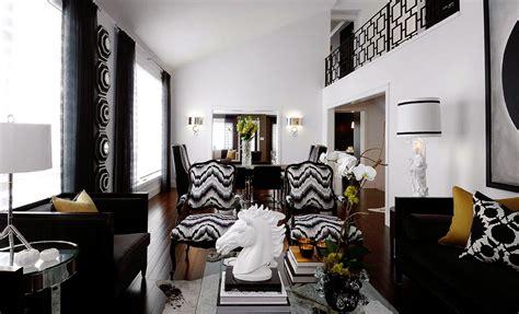 Black N White Living Room by Black N White S T A R D U S T Decor Style