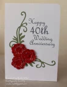 contagiously crafty happy 40th wedding anniversary