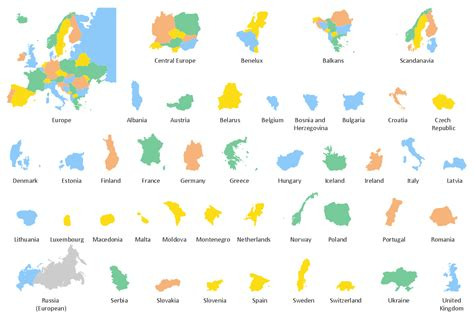continent maps continent maps solution conceptdraw