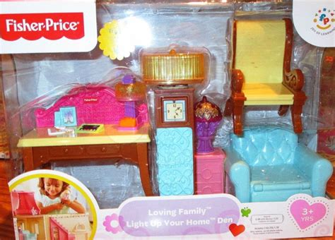 Fisher Price Dollhouse Furniture by Fisher Price Loving Family Dollhouse Furniture Set Light