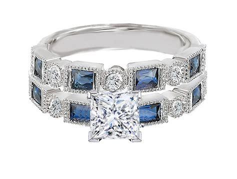 engagement ring princess cut engagement ring blue