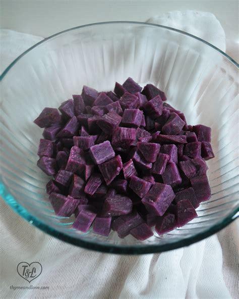 Lv Syari Sweet Purple mashed purple sweet potatoes with maple pecans thyme