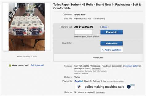 roll pack  toilet paper   sold  australia    coronavirus panic surges