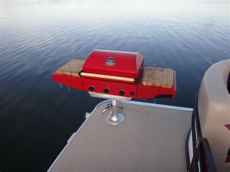 boat mini grill photograph custom made pontoon boat lp bbq grill cooker by