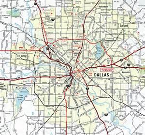 dallas in map interstate guide interstate 35e 35w