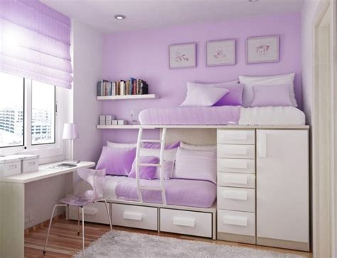 stylish girls bedrooms stylish bunk bed with purple wall color and sleek modern