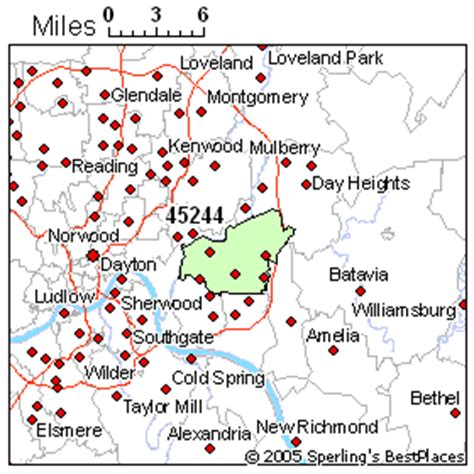 zip code map cincinnati best place to live in cincinnati zip 45244 ohio