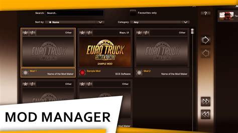 kumpulan mod game ets 2 ets 2 mod manager tutorial youtube