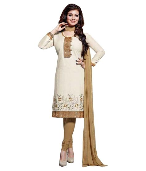uttam vastra dress materials uttam vastra white chanderi straight unstitched dress