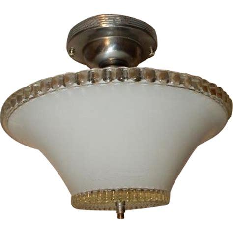 deco flush mount ceiling light fixture w original