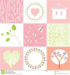 baby cards set cute design with patterns stock vector