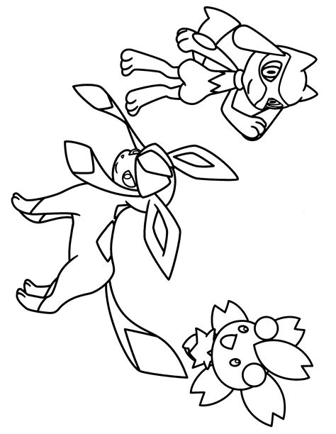 pokemon coloring pages glaceon glaceon coloring pages pokemon diamond pearl coloring