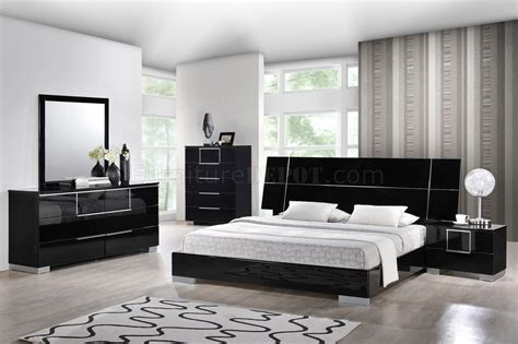 complete bedroom furniture hailey bedroom in black by global w platform bed options