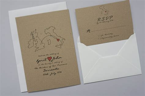 Wedding Abroad by Rustic Wedding Abroad Invitation Set Classic