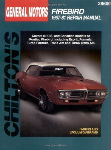 repair manual chilton 28602 fits 82 92 pontiac firebird ebay compare price pontiac chilton on statementsltd com