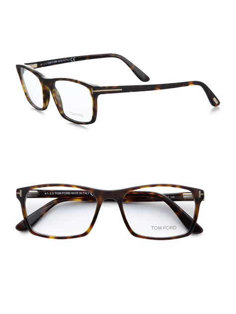 Tom Ford Eyewear by Tom Ford 5295 Rectangular Optical Frames In Brown For