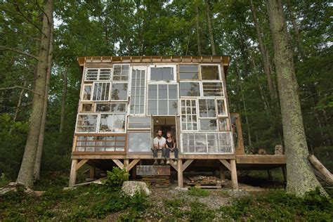 Moon To Moon The Glass House A Handmade Cabin Made Of Windows