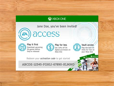 Xbox One Gift Card Code - ea access card by patrick haney dribbble