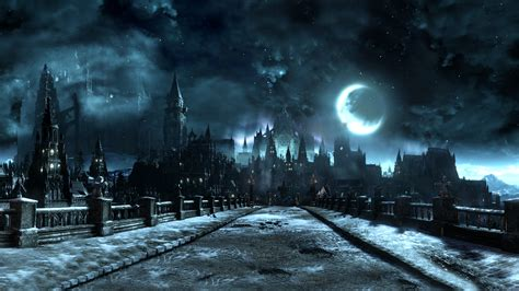 dark village wallpaper wallpaper video games monochrome night moon village