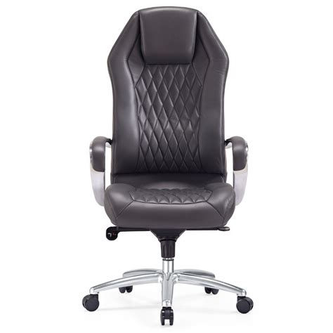 modern ergonomic sterling leather executive chair with